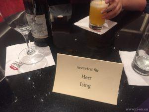 Reservierter Pausen-Tisch bei Aladdin